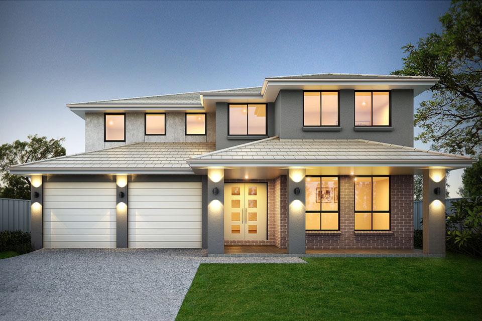 Double Storey - Calais Home Design - Traditional Facade