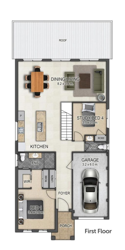 Floorplan - Sundowner II Home Design   First Floor - Split Level