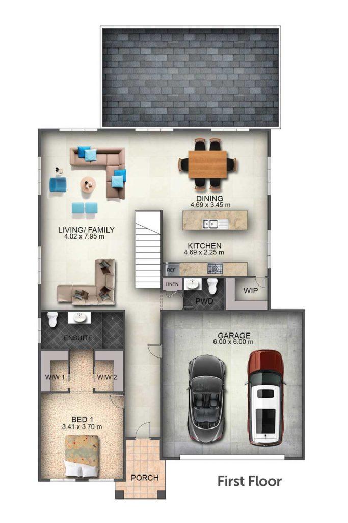 Floorplan - Sundowner I Home Design   First Floor - Split Level