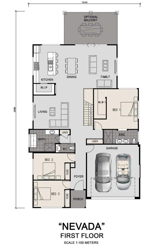 Floorplan - Nevada Home Design | First Floor - Split Level