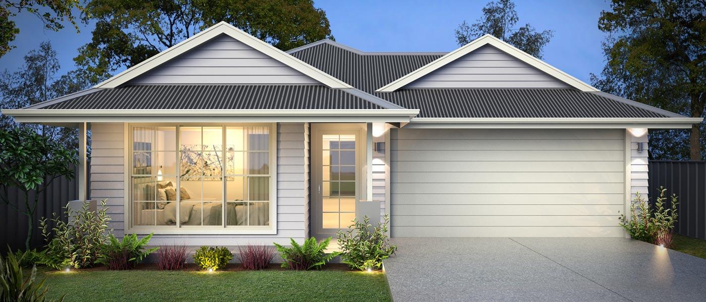 Split Level - Nevada Home Design - Facade - Hamptons