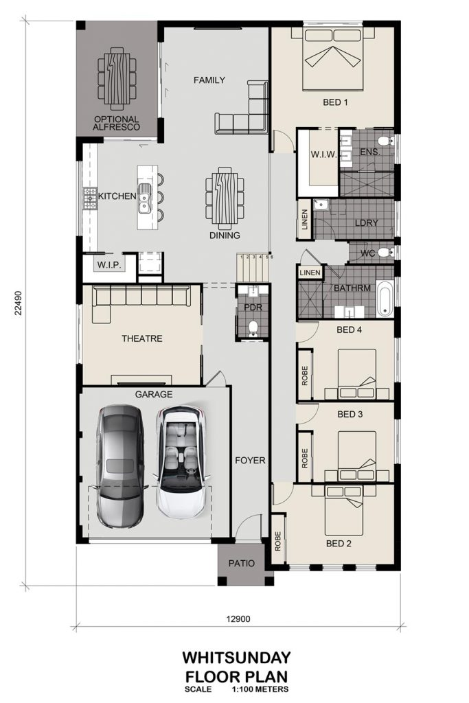 Floorplan - Whitsunday Home Design   Split Level